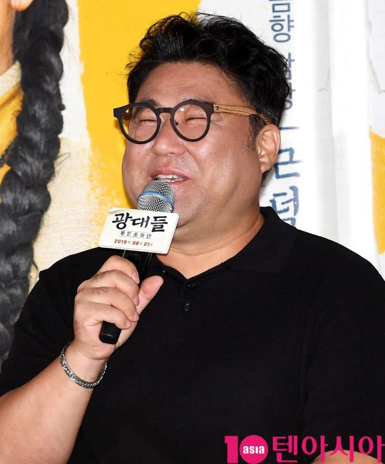 배우 고창석이 13일 오후 서울 한강로3가 CGV 용산아이파크몰점에서 열린 영화 '광대들:풍문조작단' 언론시사회에 참석하고 있다.