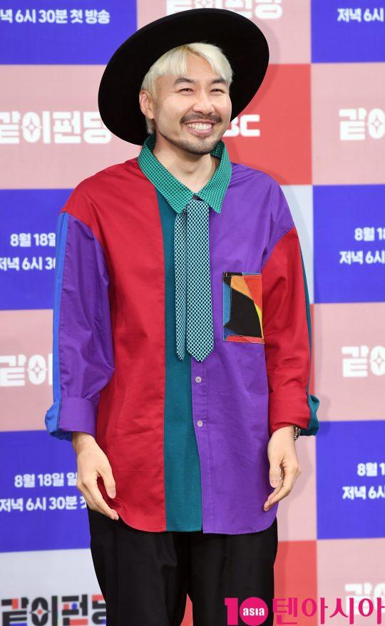 방송인 노홍철이 14일 오후 서울 상암동 MBC 골든마우스홀에서 열린 MBC 새 예능프로그램 '같이 펀딩' 제작발표회에 참석했다. /조준원 기자 wizard333@