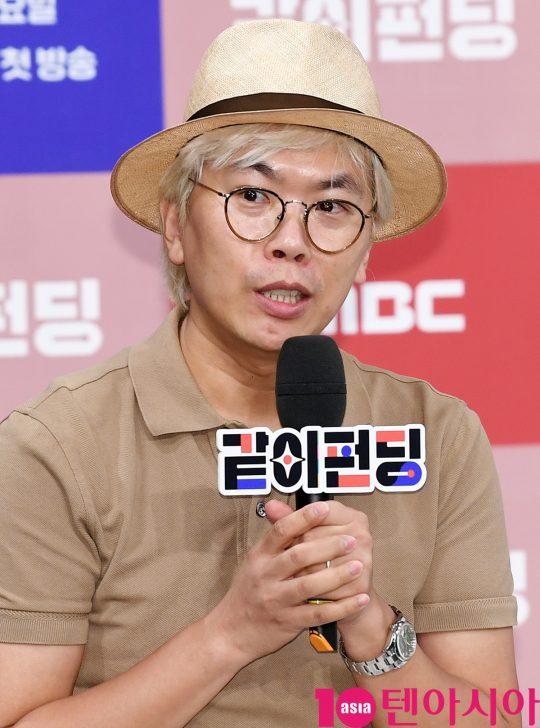 김태호 PD가 '같이 펀딩' 제작발표회에서 프로그램에 대해 소개하고 있다. /조준원 기자 wizard333@
