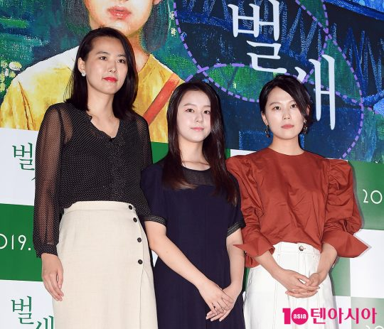 김보라 감독(왼쪽부터), 박지후, 김새벽