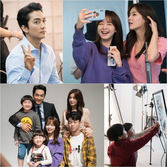 '위대한 쇼' 포스터 촬영 비하인드./ 사진제공=tvN
