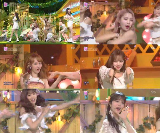 SBS '인기가요' 방송 화면 캡처.