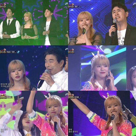 가수 한여름. / '전국 TOP 10 가요쇼' 방송화면