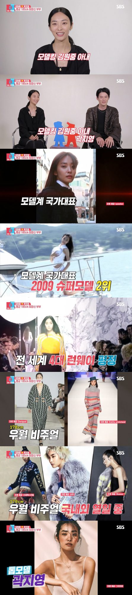 모델 곽지영. /사진=SBS '동상이몽2' 방송 캡처