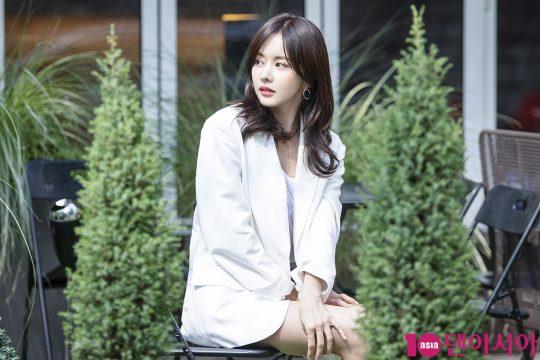 """배우 한보름은 """"내후년 결혼이 목표""""라고 했다./ 이승현 기자 lsh87@"""