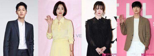 송중기(왼쪽부터), 송혜교, 구혜선, 안재현./ 사진=텐아시아DB
