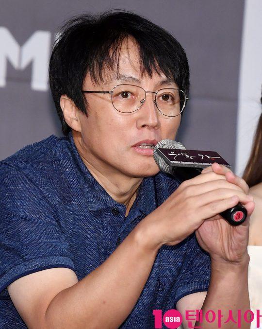 한철수 감독이 21일 오후 서울 서초구 잠원동 더 리버사이드 호텔에서 열린 MBN-드라맥스 새 수목드라마 '우아한 가(家)' 제작발표회에 참석하고 있다.