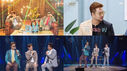 손호영-김태우 '호우주의보'./ 사진=에스제이엔터, KBS2 '유희열의 스케치북', '불후의 명곡' 캡처