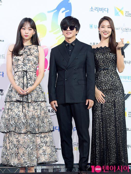 진기주(왼쪽부터), 윤도현, 정이나