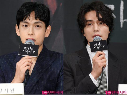 OCN 드라마틱 시네마 '타인은 지옥이다'를 통해 처음 호흡을 맞춘 배우 임시완(왼쪽)과 이동욱./ 이승현 기자 lsh87@