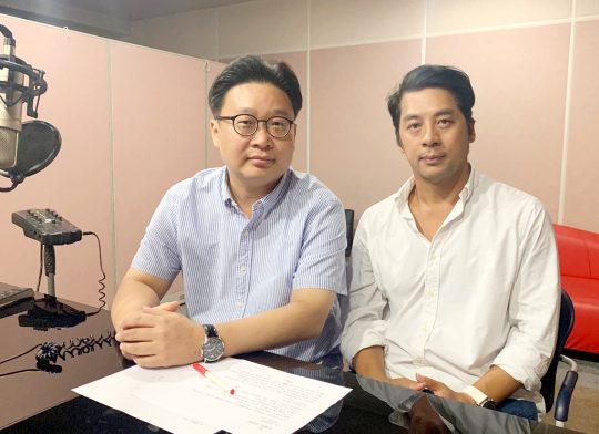 서경덕 교수(왼쪽), 배우 권오중. /사진제공=서경덕 교수