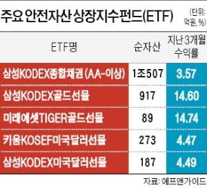 """증시 피난처 부상한 '안전자산 ETF' 수익률 고공행진…""""자금 더 몰릴 것"""""""