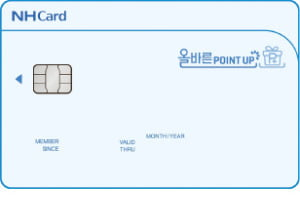 NH농협카드 '올바른 포인트 업 카드', 국내외 全가맹점에서 무제한 포인트 적립