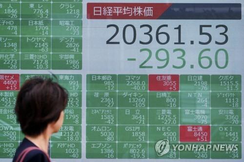 미중 추가관세로 침체공포 확산…아시아 금융시장 '충격'