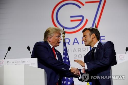 """佛 비아리츠 G7 정상회담 폐회…트럼프 """"정말 성공적"""""""