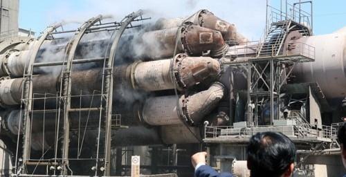 쌍용양회 동해공장에서 시멘트가 생산되고 있다. 사진=연합뉴스