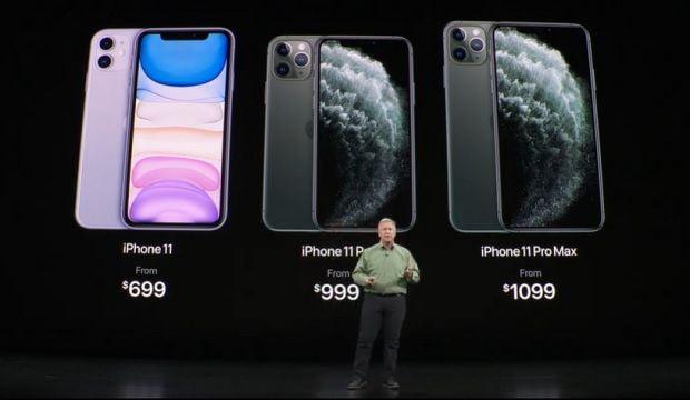 애플은 10일(현지시간) 아이폰11 시리즈 3종을 공개했다. /유튜브 화면 캡쳐
