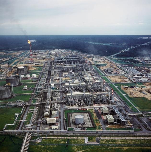 나이지리아 보니 LNG Plant 1호기~6호기 전경(자료 대우건설)