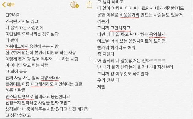 '정국 거제도 열애설'에 해쉬스완 불똥 /사진=해쉬스완 인스타그램