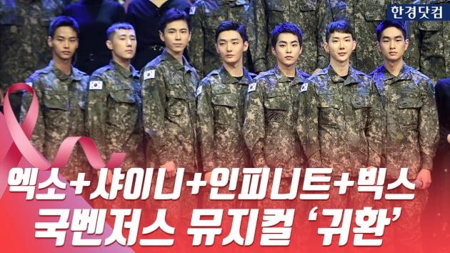 HK영상|시우민+온유+성규+엔+윤지성, 국벤저스 뮤지컬 '귀환' 제작발표회 현장