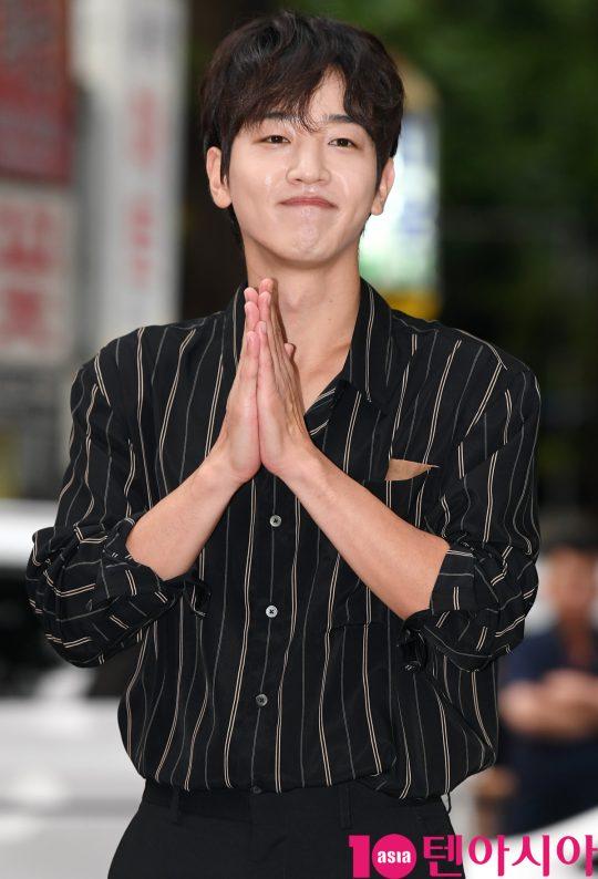 배우 이태선이 1일 오후 서울 여의도 한 음식점에서 열린 tvN 토일드라마 '호텔 델루나' 종방연에 참석하고 있다.