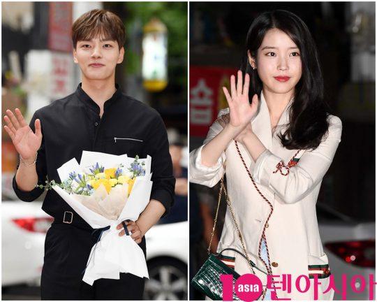 배우 이지은(오른쪽)과 여진구가 1일 오후 서울 여의도 한 음식점에서 열린 tvN 토일드라마 '호텔 델루나' 종방연에 참석하고 있다.