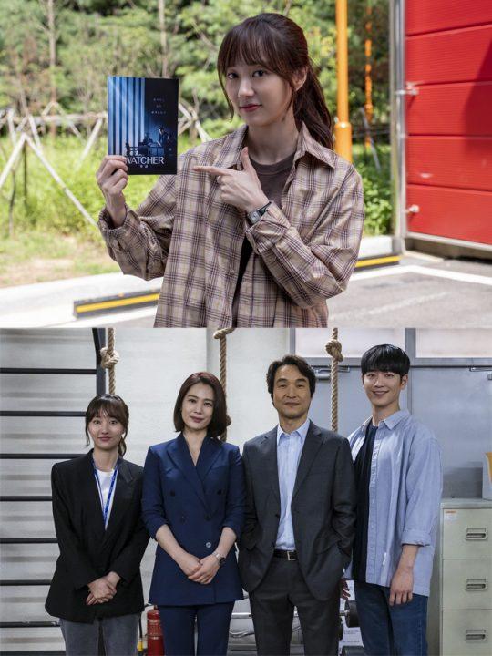 '왓쳐'의 주역인 박주희, 김현주, 한석규, 서강준./ 사진제공=클로버컴퍼니
