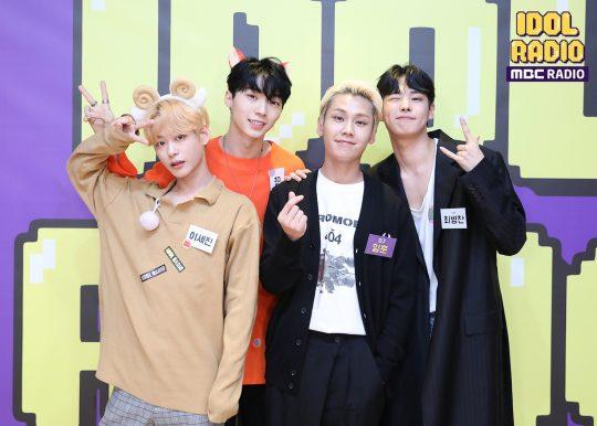 MBC 표준FM '아이돌 라디오'에 출연한 배우 이세진(왼쪽부터), 모델 유리, 비투비의 정일훈, 빅톤의 최병찬. /사진제공=MBC
