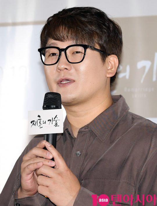 배우 김강현이 3일 오전 서울 한강로3가 CGV 용산아이파크몰점에서 열린 영화 '재혼의 기술' 제작보고회에 참석하고 있다.