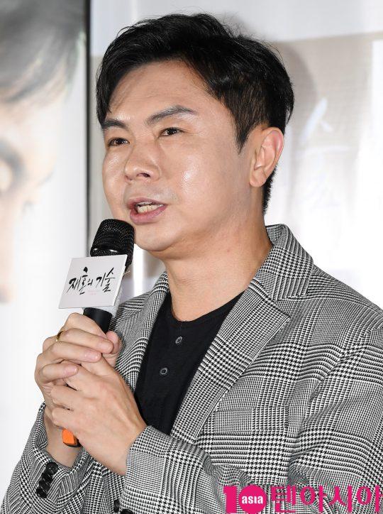 배우 임원희가 3일 오전 서울 CGV용산 아이파크몰점에서 열린 영화 '재혼의 기술' 제작보고회에 참석했다./ 조준원 기자 wizard333@