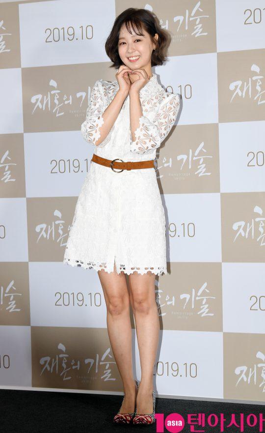 배우 박해빛나가 3일 오전 서울 한강로3가 CGV 용산아이파크몰점에서 열린 영화 '재혼의 기술' 제작보고회에 참석하고 있다.