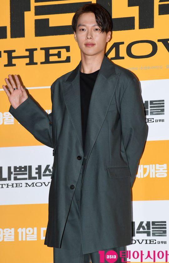 배우 장기용이 3일 오후 서울 한강로3가 CGV 용산아이파크몰점에서 열린 영화 '나쁜 녀석들: 더 무비' 언론시사회에 참석하고 있다.