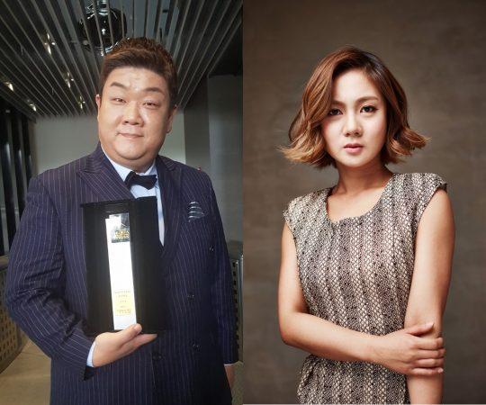 코미디언 유민상(왼쪽), 박나래. / 제공=JDB엔터테인먼트
