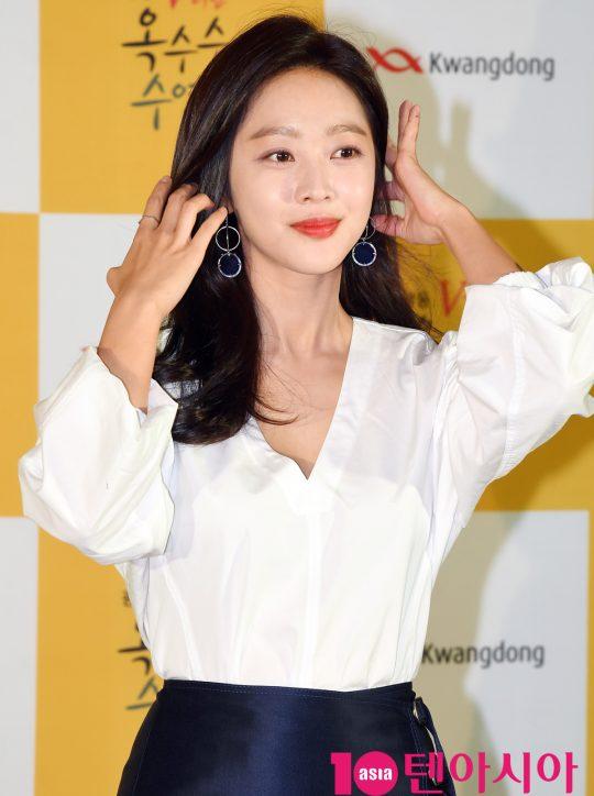 배우 조보아가 서울 중구 퇴계로 한국의집에서 열린 '조보아와 함께하는 수염미식회'에 참석하고 있다.