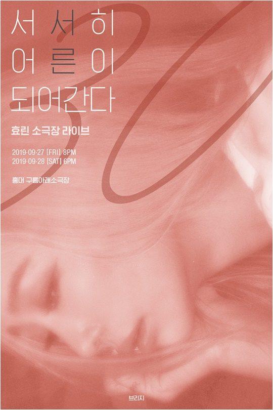효린 콘서트 포스터./ 사진제공=브리지