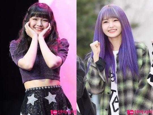 걸그룹 드림노트 멤버 하빈(왼쪽), 한별./사진=텐아시아DB