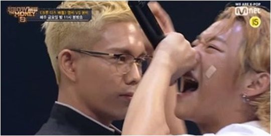지난 6일 방영된 Mnet '쇼미더머니8' 방송화면.