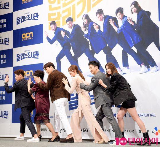 배우 김주영(왼쪽부터), 오미희, 최귀화, 이요원, 장현성, 이주우