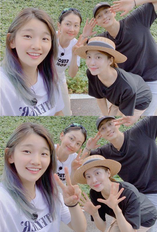 배우 박소담(왼쪽부터), 염정아, 윤세아, 박서준. /사진=박소담 인스타그램