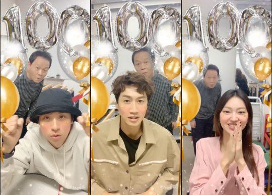 영화 '타짜3' 100만 감사 영상의 배우 박정민(왼쪽부터), 이광수, 최유화./사진제공=롯데엔터테인먼트