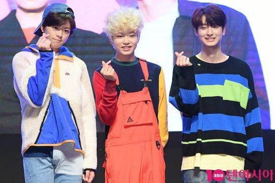 그룹 틴틴 이태승(왼쪽부터), 이진우, 이우진