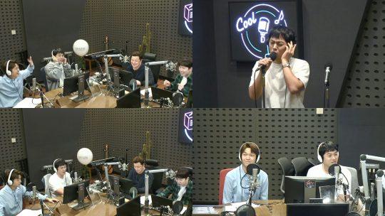 KBS 쿨FM '윤정수 남창희의 미스터 라디오' 방송화면. /사진제공=KBS