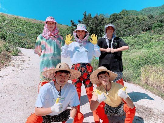 '자연스럽게' 천명훈(왼쪽 위부터 시계 방향), 신지, 은지원, 강남, 김종민. /사진=신지SNS