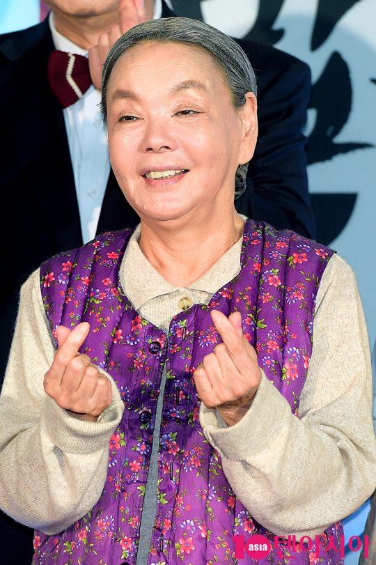 김수미는 드라마 '전원일기'의 일용 엄니 이후 20여년 만에 분장을 처음했다고 밝혔다. /서예진 기자 yejin@