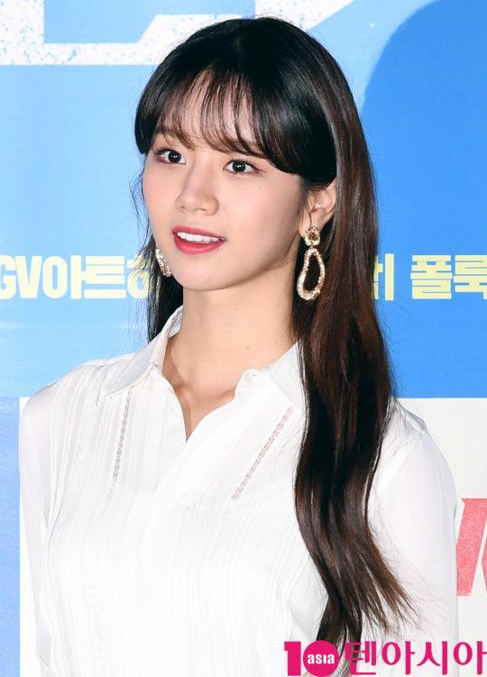 배우 이혜리가 30일 오후 서울 한강로3가 CGV 용산아이파크몰점에서 열린 영화 '판소리 복서' 언론시사회에 참석하고 있다.