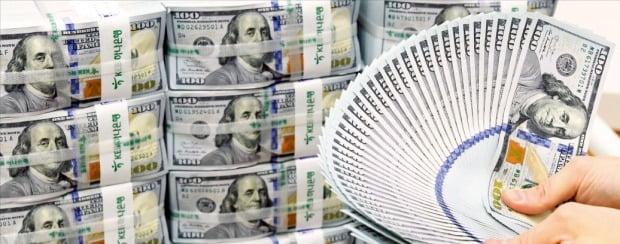 글로벌 경기 둔화 우려로 금융시장 불안이 커지면서 미국 달러화 등 안전자산에 대한 선호도가 높아지고 있다.  /한경DB