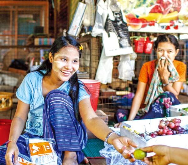 천연화장품 타나카를 바른 여인들