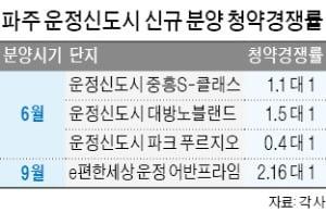 2기 신도시 검단·파주, 미분양 '뚝'…신규 분양 '활기'