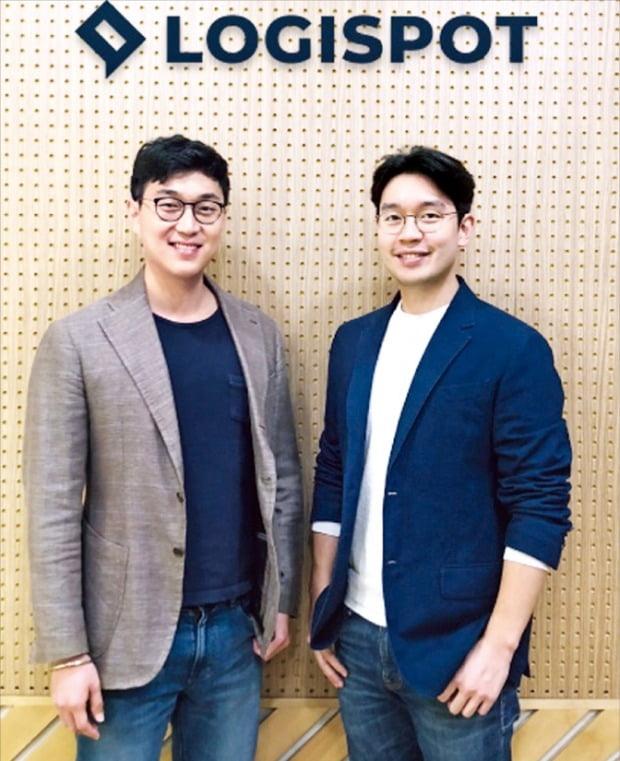 """로지스팟을 개발한 박준규 대표(왼쪽)와 박재용 대표. 박준규 대표는 """"로지스팟은 일선 근무자의 애로사항을 반영해 탄생한 플랫폼""""이라고 강조했다.       /로지스팟  제공"""