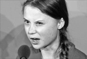 16세 스웨덴 소녀, 세계 정상들을 꾸짖다